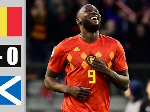 Бельгия - Шотландия 3:0 (видео)