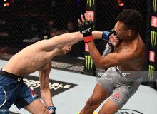 """UFC 254"". Қозоғистонлик жангчи дебютни ғалаба билан нишонлади"