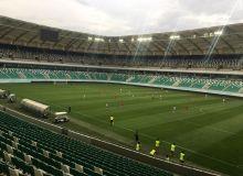 На новом газоне стадиона «Миллий» прошла первая проверка