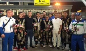 St. Petersburg Governor Cup Uzbek gold medallists arrive in Tashkent