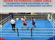 Seven victorious Uzbek girls celebrated their successes at the Kolchin Memorial Tournament on Day2
