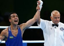 How does Shakhram Giyasov earn a 15-second KO win? Video