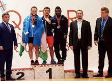 Тяжелоатлеты Узбекистана на пьедестале почета Кубка Катара