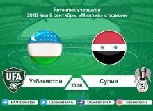 Завтра на стадионе «Миллий» состоится предматчевая пресс-конференция Узбекистан - Сирия